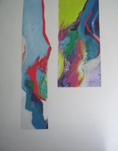 """64"""" X 84"""" Acrylic on Canvas"""