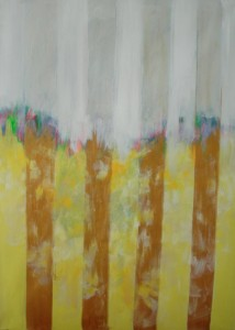 """39"""" X 54"""" Acrylic on Canvas"""